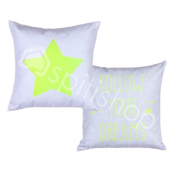 Διακοσμητικό Μαξιλάρι 2 Όψεων Nef-Nef Follow Your Dreams Lime