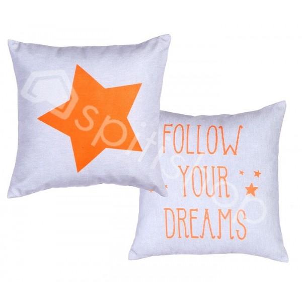 Διακοσμητικό Μαξιλάρι 2 Όψεων Nef-Nef Follow Your Dreams Orange