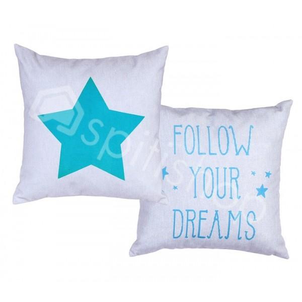 Διακοσμητικό Μαξιλάρι 2 Όψεων Nef-Nef Follow Your Dreams Petrol