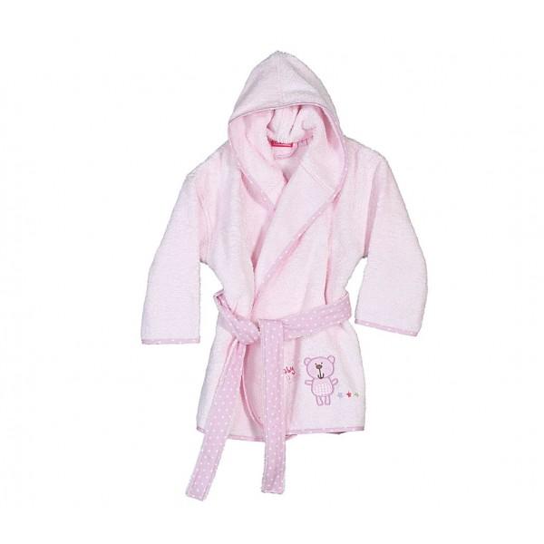 Βρεφικό Μπουρνούζι Nef-Nef Baby Bears Pink