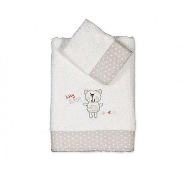 Βρεφικές Πετσέτες (Σετ 2τμχ) Nef-Nef Baby Bears Ecru