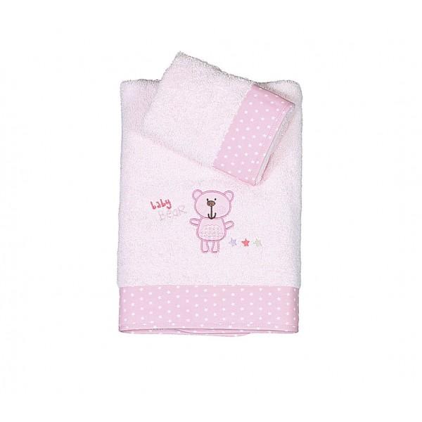 Βρεφικές Πετσέτες (Σετ 2τμχ) Nef-Nef Baby Bears Pink