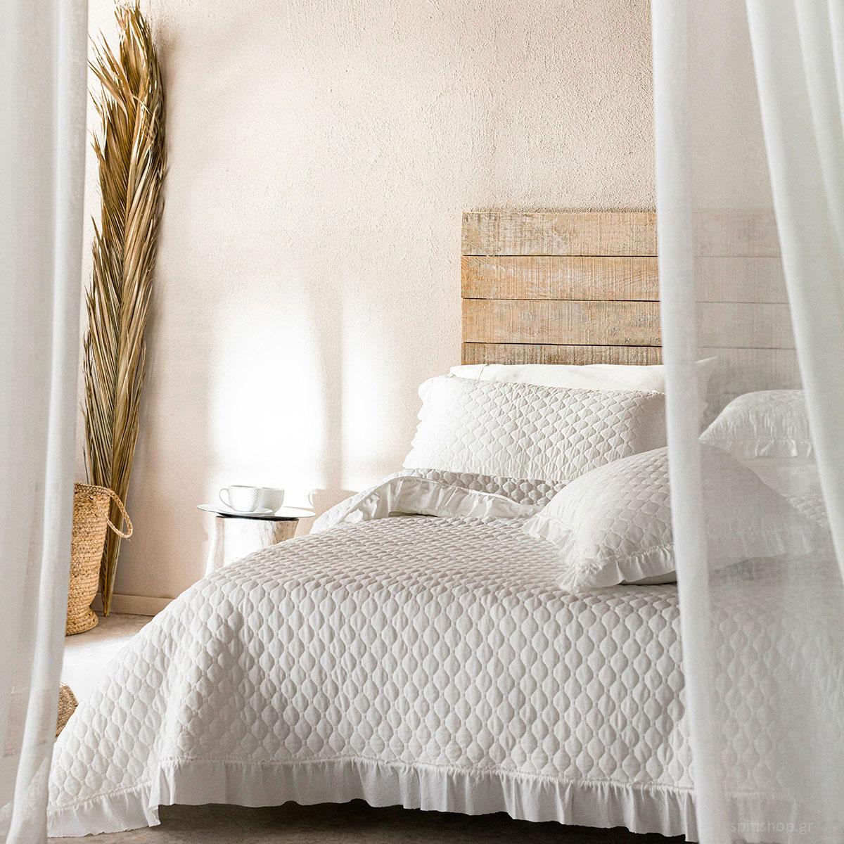 Κουβερλί Υπέρδιπλο (Σετ) Gofis Home Angelica Off White 197