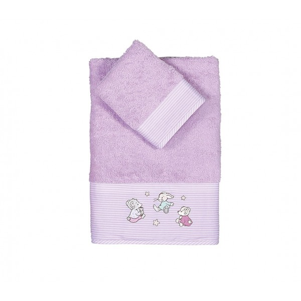 Βρεφικές Πετσέτες (Σετ 2τμχ) Nef-Nef Baby Dream With Me Lilac
