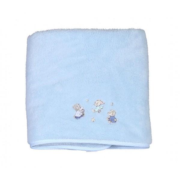 Κουβέρτα Fleece Κούνιας Nef-Nef Baby Dream With Me Blue