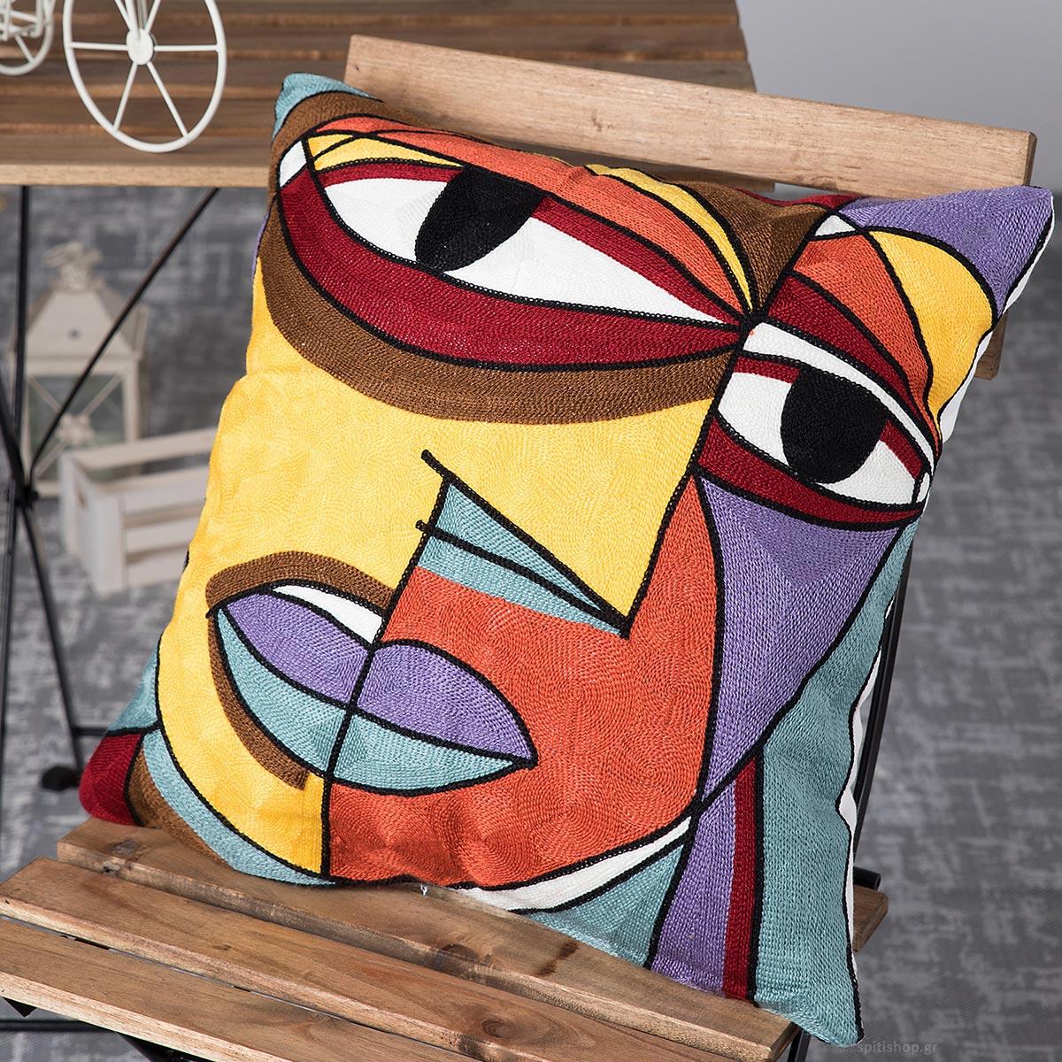 Διακοσμητική Μαξιλαροθήκη (45×45) Silk Fashion Polygazo82