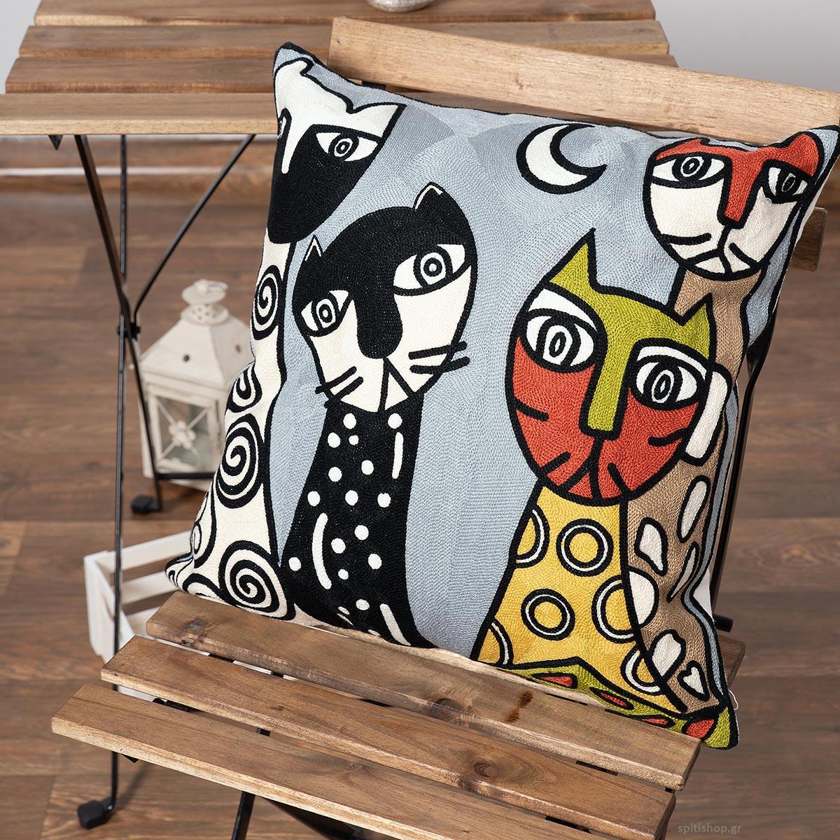 Διακοσμητική Μαξιλαροθήκη (45×45) Silk Fashion Polygazo93