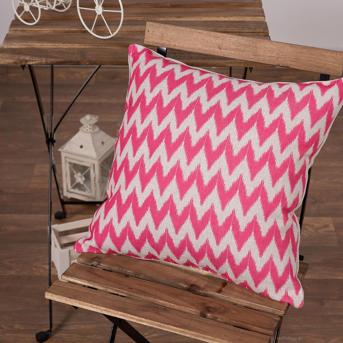 Διακοσμητική Μαξιλαροθήκη (45x45) Silk Fashion Lino3