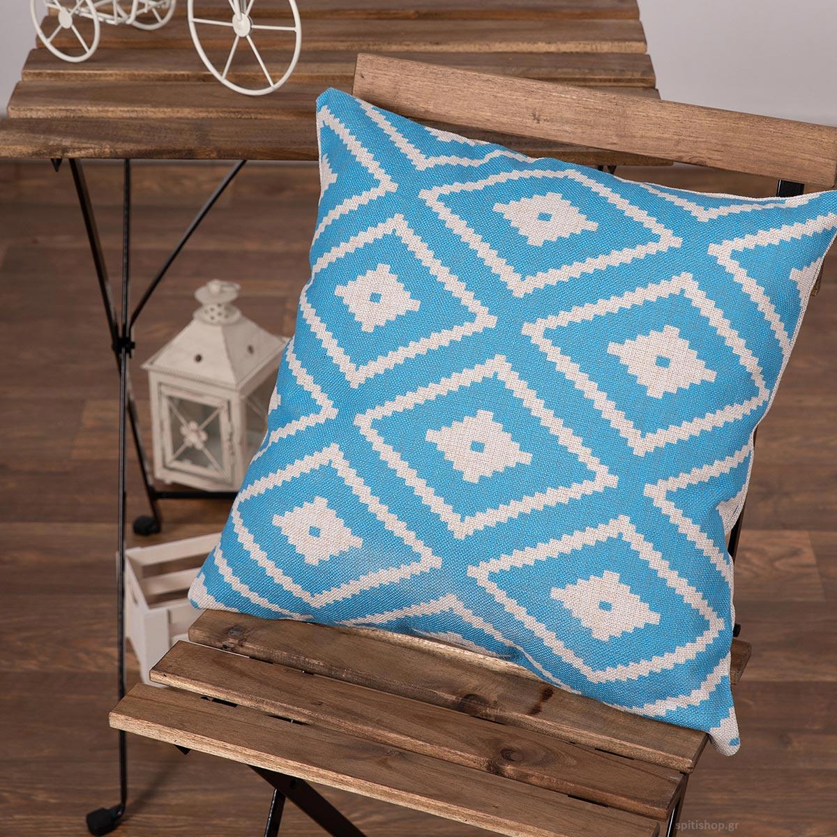 Διακοσμητική Μαξιλαροθήκη (45×45) Silk Fashion Lino4