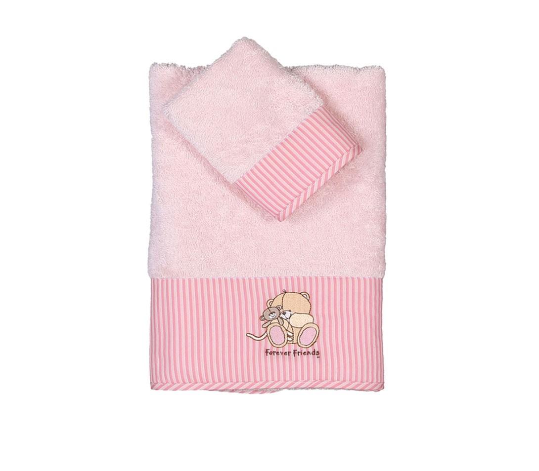 Βρεφικές Πετσέτες (Σετ 2τμχ) Nef-Nef Baby FF Big Hugs Pink