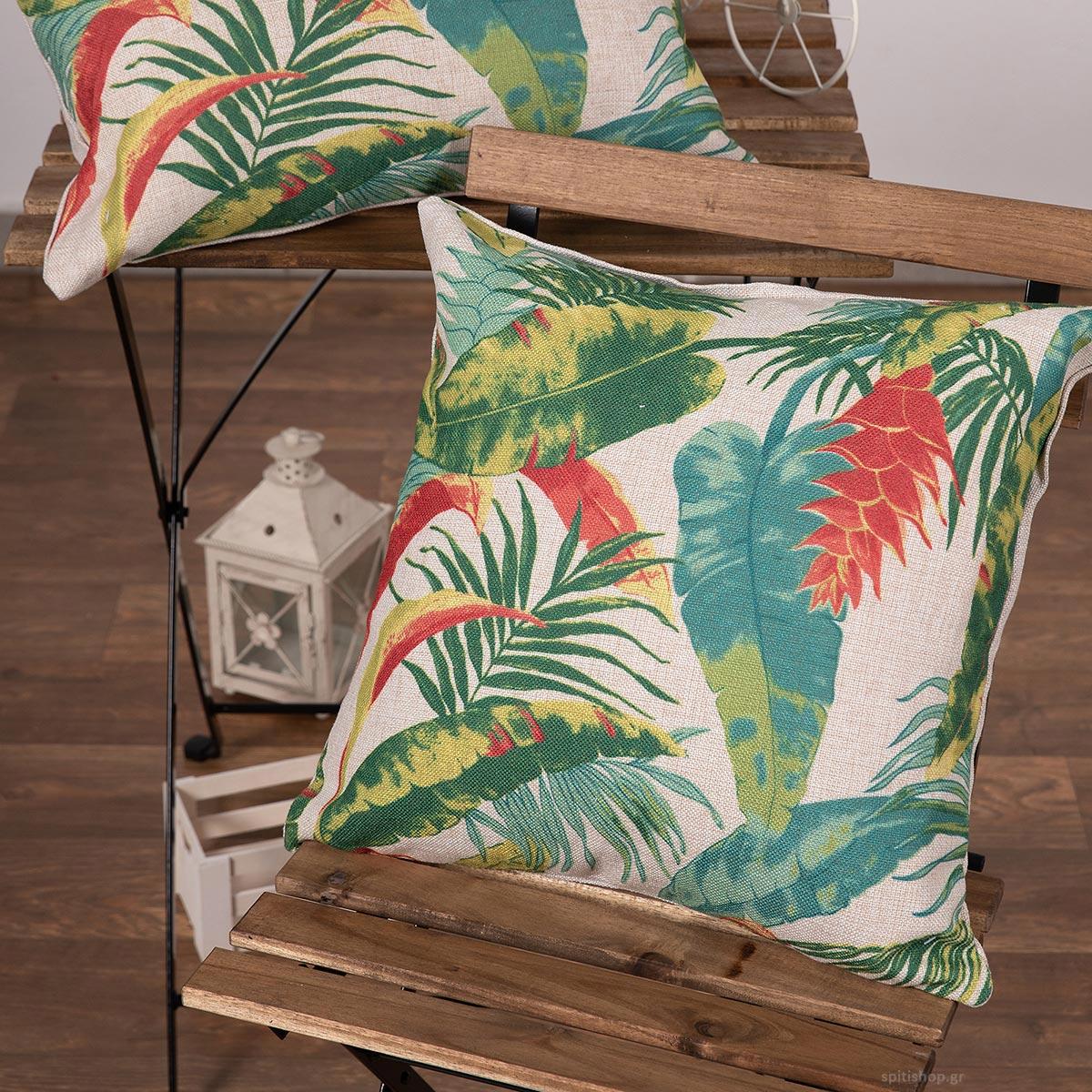 Διακοσμητική Μαξιλαροθήκη (45x45) Silk Fashion Lino34