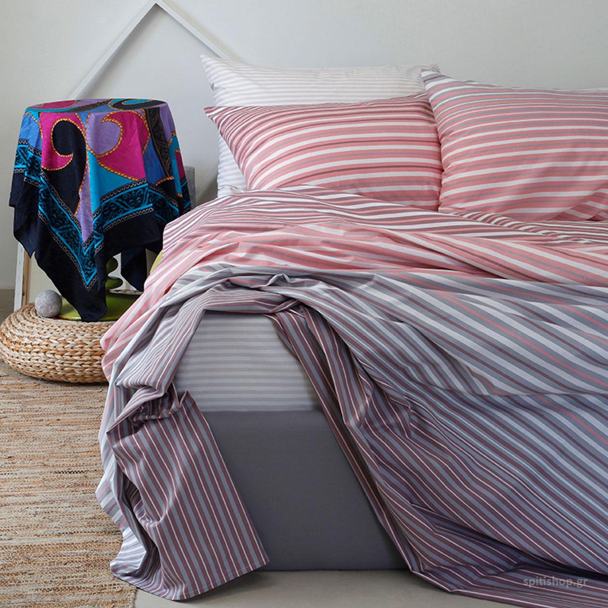Σεντόνια Μονά (Σετ) Melinen Ultra Corso Pink ΧΩΡΙΣ ΛΑΣΤΙΧΟ 170X270 ΧΩΡΙΣ ΛΑΣΤΙΧΟ 170X270