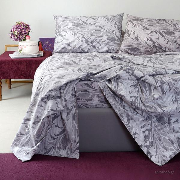 Σεντόνια King Size (Σετ) Melinen Ultra Brooks Grey/Lilac