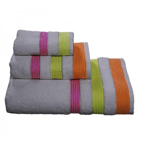 Πετσέτες Μπάνιου (Σετ 3τμχ) Nef-Nef Prima Grey