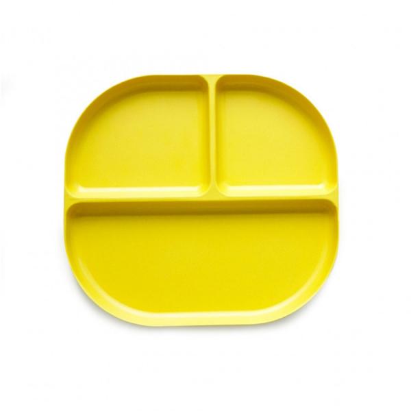 Δίσκος Φαγητού Με Χώρισμα Bamboo Ekobo Κίτρινο