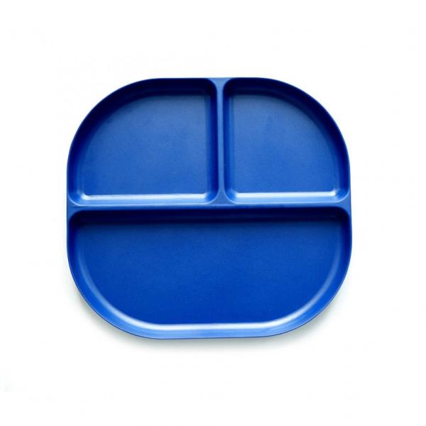 Δίσκος Φαγητού Με Χώρισμα Bamboo Ekobo Μπλε