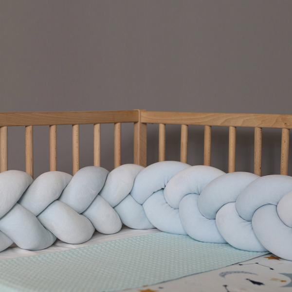 Πάντα Κούνιας - Πλεξούδα 140cm Mother Touch Nany Γαλάζιο