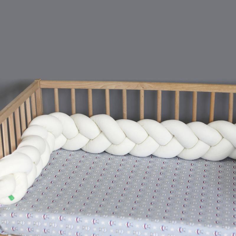 Πάντα Κούνιας - Πλεξούδα Mother Touch Nany Λευκό