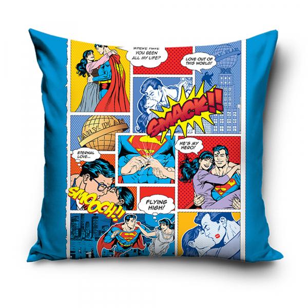 Διακοσμητική Μαξιλαροθήκη (40x40) Superman SUPVAL173002