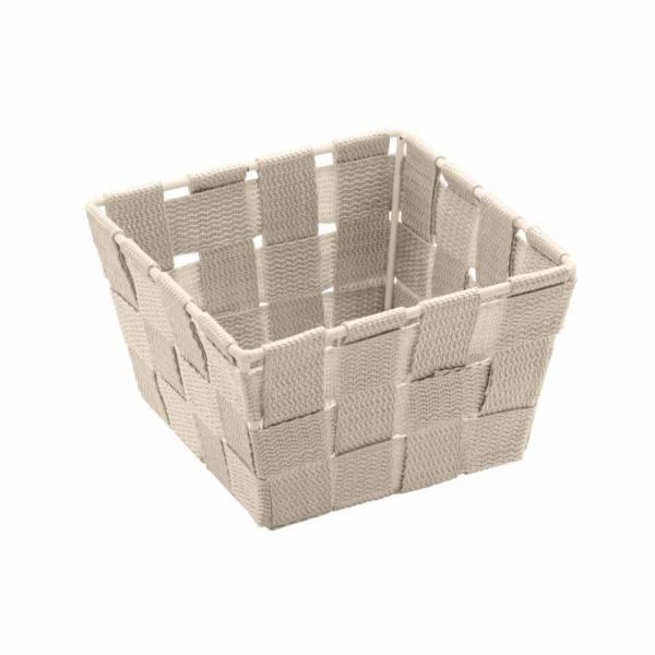 Καλάθι Αποθήκευσης (14x14x9) Wenko Adria Beige 20683100