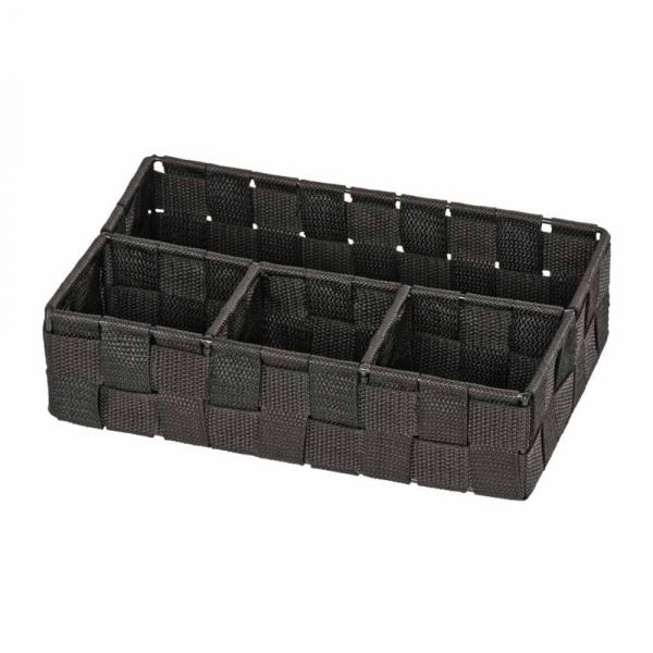 Καλάθι Αποθήκευσης 4 Θέσεων Wenko Adria Black 20976100