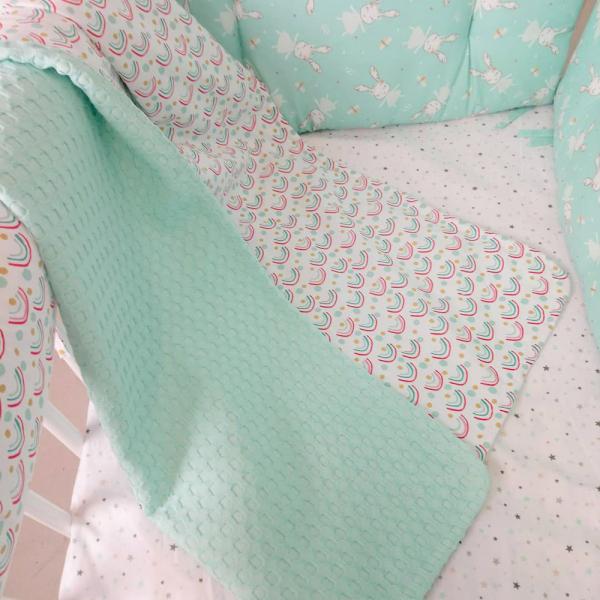 Κουβέρτα Πικέ Κούνιας Ninna Nanna Rainbow