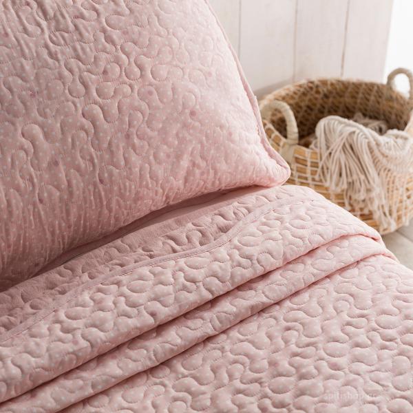 Κουβερλί Υπέρδιπλο (Σετ) Gofis Home Pindot Peach Pink 526/25