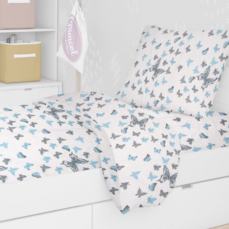 Πάπλωμα Μονό Dimcol Butterfly 56 Sky Blue