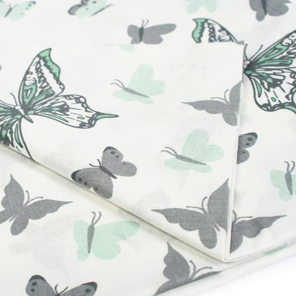Βρεφική Μαξιλαροθήκη Dimcol Butterfly 57 Green