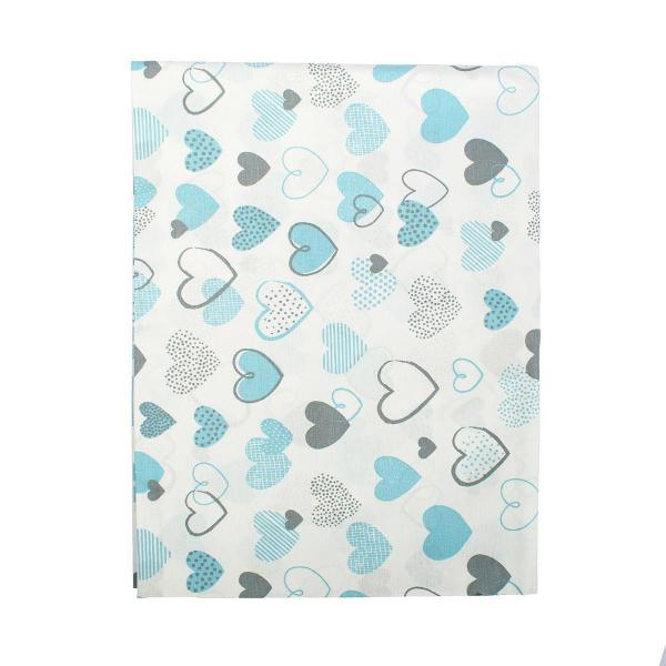Βρεφική Μαξιλαροθήκη Dimcol Hearts 08 Blue