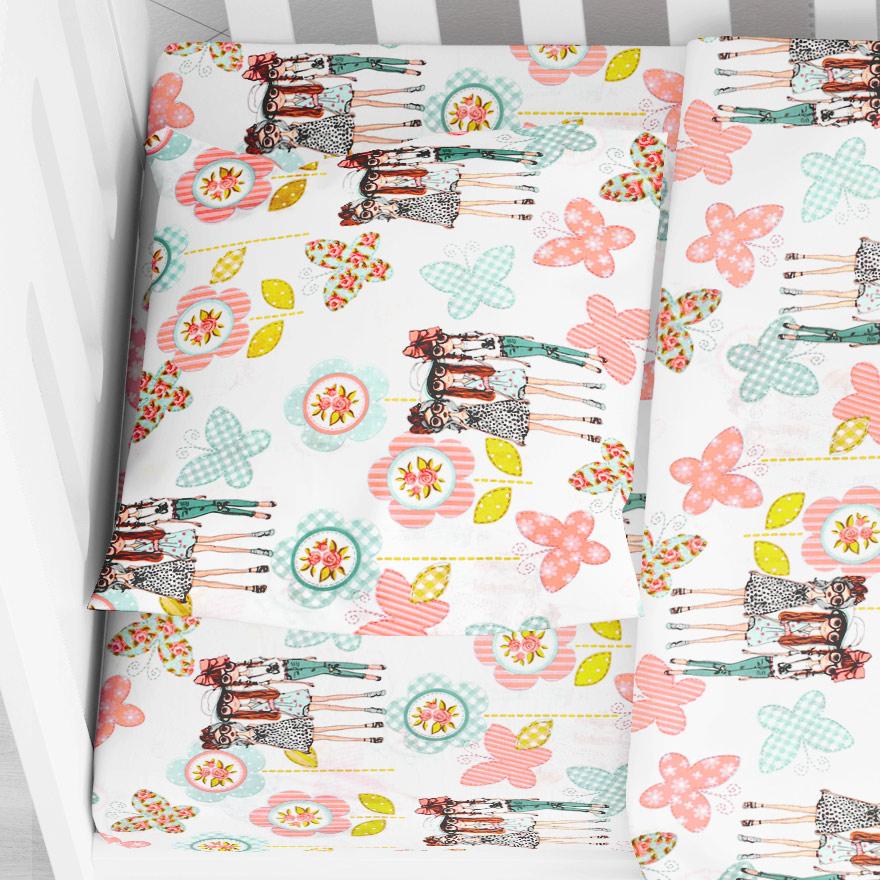 Βρεφική Μαξιλαροθήκη Dimcol Girls 58 Pink