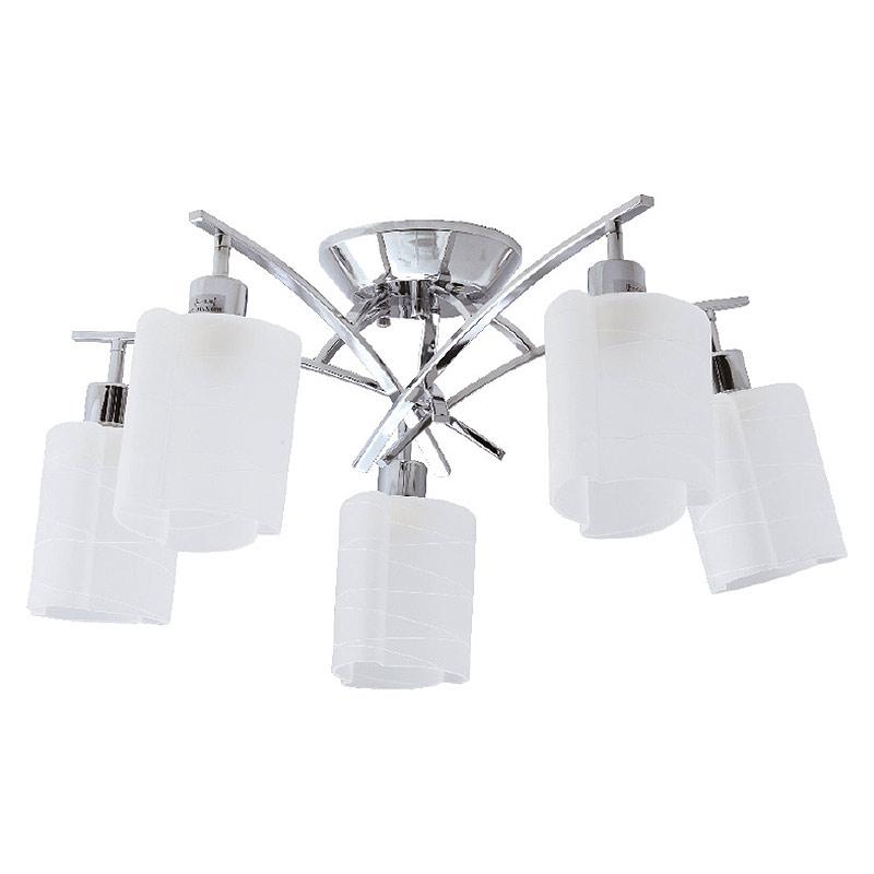 Φωτιστικό Οροφής Πολύφωτο Aca Cady TNK85332CR5H Nickel/Sandblast