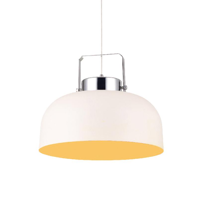 Φωτιστικό Οροφής Μονόφωτο Aca OYD10124BSP1 White/Saffron Yellow