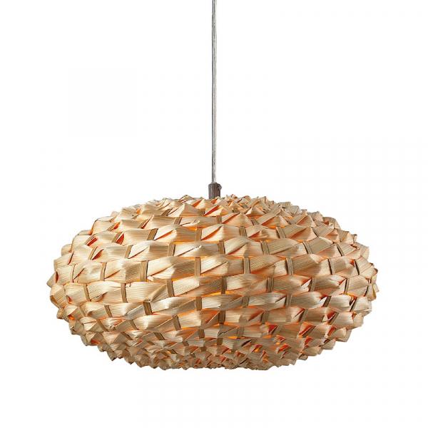 Φωτιστικό Οροφής Μονόφωτο Aca WA3481 Bamboo/Natural