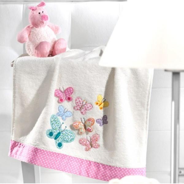 Παιδικές Πετσέτες Προσώπου (Σετ 2τμχ) Nima Favola Borboletas