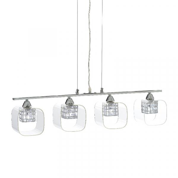 Φωτιστικό Οροφής Πολύφωτο Aca FW50314 Nickel/Clear