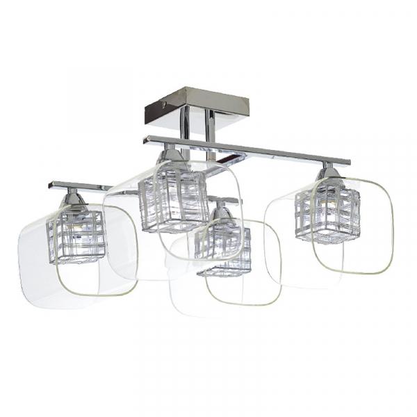 Φωτιστικό Οροφής Πολύφωτο Aca FW50314A Nickel/Clear