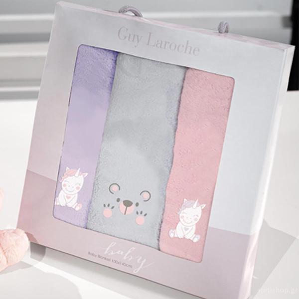 Βρεφικές Πετσέτες Χεριών (Σετ 3τμχ) Guy Laroche Baby Girl