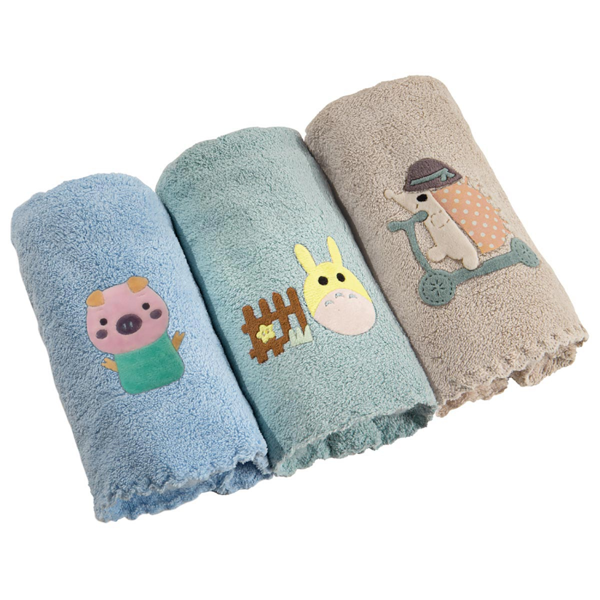 Βρεφικές Πετσέτες Χεριών (Σετ 3τμχ) Guy Laroche Happy Boy