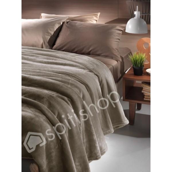 Κουβέρτα Fleece Μονή Nima Loafer Walnut
