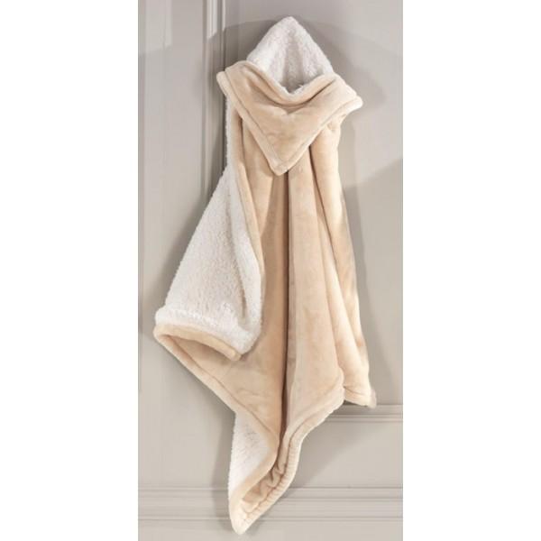Κουβέρτα Βελουτέ Αγκαλιάς Με Κουκούλα Nima Panda 03