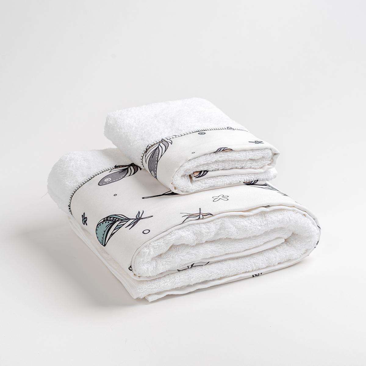 Βρεφικές Πετσέτες (Σετ 2τμχ) Mother Touch Plume