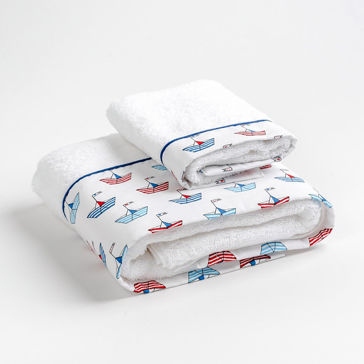 Βρεφικές Πετσέτες (Σετ 2τμχ) Mother Touch Petit Bateau