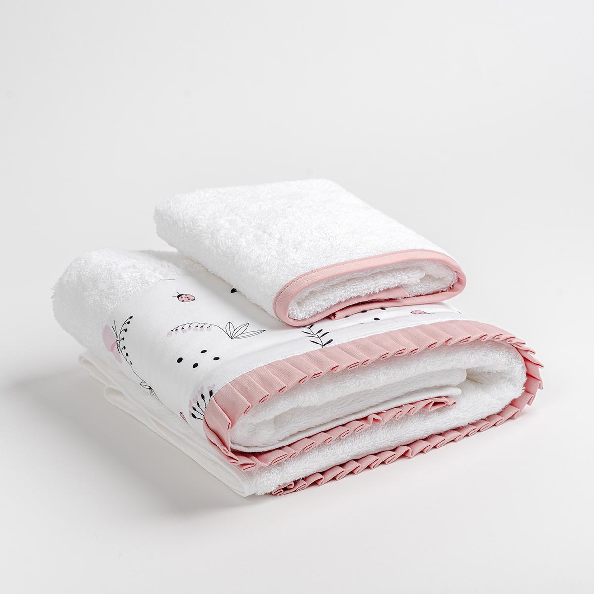 Βρεφικές Πετσέτες (Σετ 2τμχ) Mother Touch Coccinelle