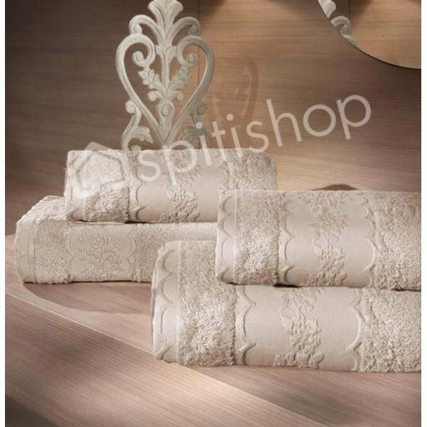 Πετσέτες Μπάνιου (Σετ 2τμχ) Nima Le Bain Victorian Ecru