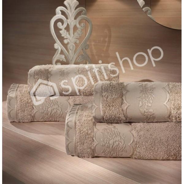 Πετσέτες Μπάνιου (Σετ 2τμχ) Nima Le Bain Victorian Beige
