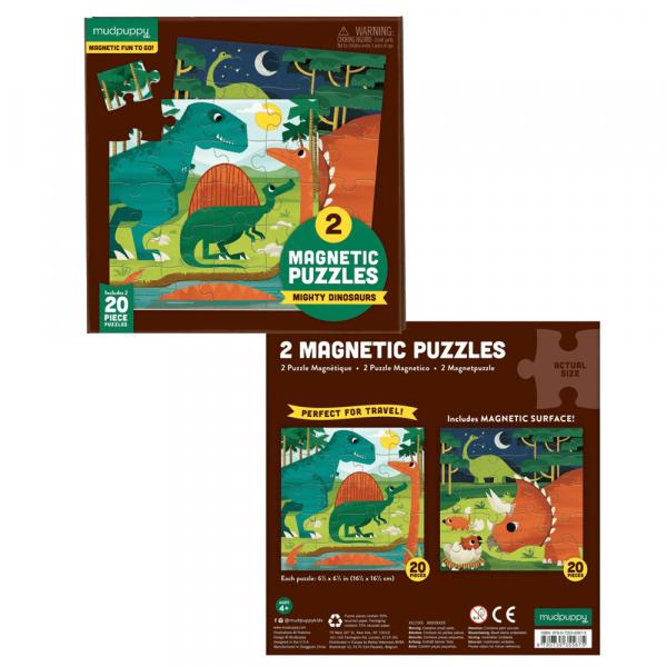 Σετ 2 Παζλ Μαγνητικά Mudpuppy Δεινόσαυροι