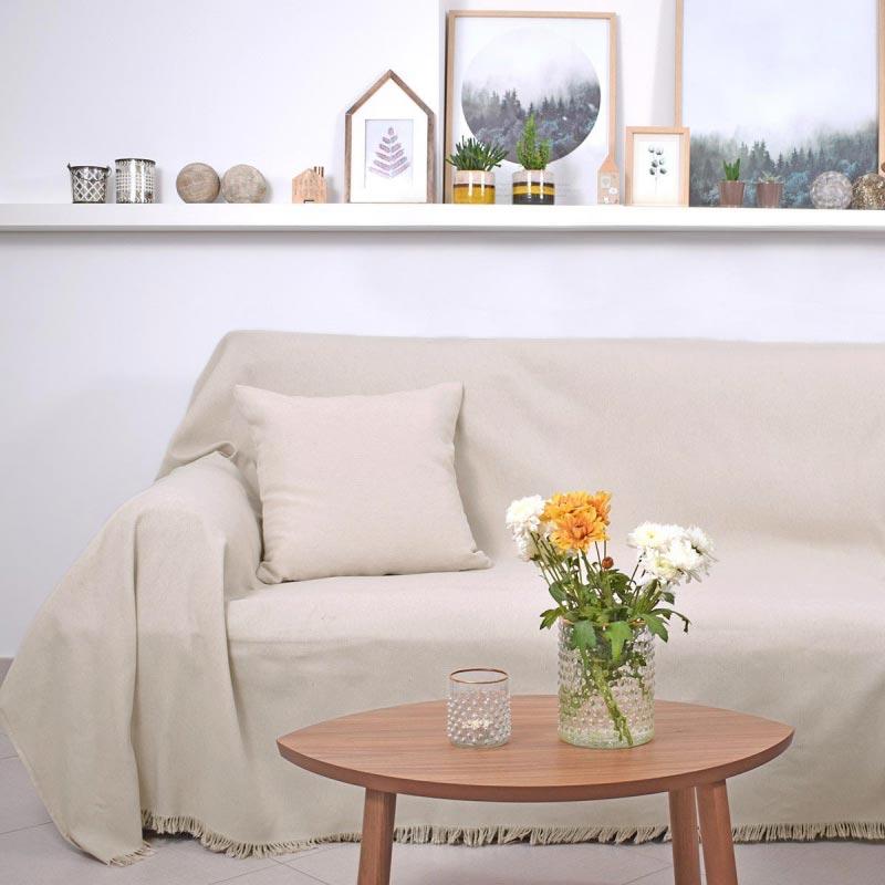 Ριχτάρι Τριθέσιου (180×300) Ravelia Pure Cream