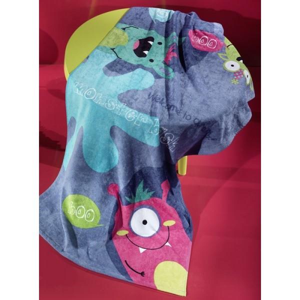 Παιδική Πετσέτα Θαλάσσης Nima Whoop Little Monsters 01