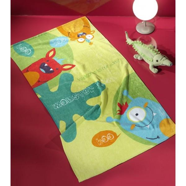 Παιδική Πετσέτα Θαλάσσης Nima Whoop Little Monsters 02